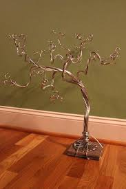 earring tree stand silver color jewelry necklace organizer bracelet display ring storage made when australia wooden