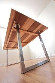 minimalist modern industrial office desk dining. Modern Industrial Minimalist Dining Table // Office Desk Sun Tanned Wood And Steel I