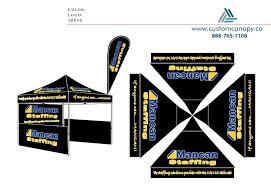 Mancan Staffing Custom Canopy Many Sizes Full Digital Printing