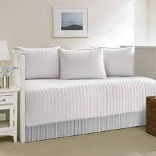 day bed cover. Beautiful Cover Nautica Maywood 5Piece Set Daybed Cover White Throughout Day Bed Cover M