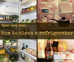 how to clean your refridgerator