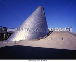 WASHINGTON - Cone shaped Museum of Glass in Tacoma. - Stock Image