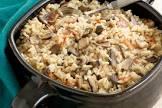 baked mushroom bacon rice