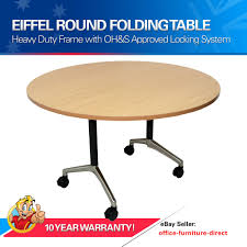 round flip top table folding tables mobile meeting conference office fold table