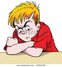 Image result for cartoon illustration of a angry child