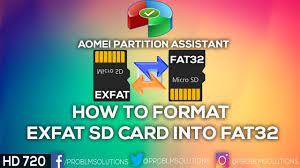 Format sd card to fat32 with minitool partition wizard. How To Format Exfat 64gb Sd Card Into Fat32 In Windows 10 Youtube