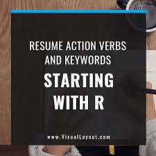 Action Verbs For Resumes And Cover Letters Best of JobSeeker Resume Action Verbs And Keywords Starting With R