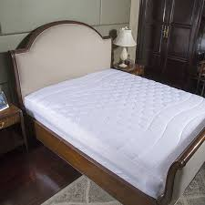 quilted mattress pad. Simple Quilted White Bed Protection Pad Quilted Mattress Protector Hotel Cover  Polyester Woven Single Twin Full Queen Inside Quilted Mattress Pad