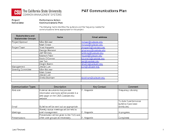 Quality Management Plan Project Free Printables Project Quality Management Plan Template 13