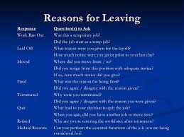 Resume Reason For Leaving Good Reasons For Quitting A Job On A Resume. professional essay ...