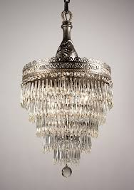 sold beautiful antique art nouveau five tier chandelier with irises early 1900 s