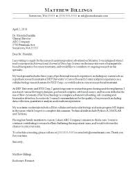 Academic Cover Letter Samples Research Assistant Cover Letter Cover