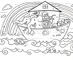 Christian Coloring Pages Noahs Ark Sunday Schoolvbs Sunday