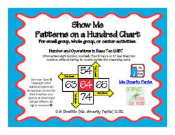 Common Core Chart Show Me Patterns On A Hundred Chart Common Core