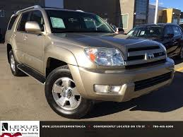 Pre Owned Gold 2004 Toyota 4Runner Limited V8 4WD Review | Nisku ...