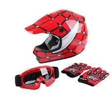 Tct Mt Helmet Goggles Gloves Dot Youth Kids Helmet Red