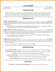 Sushi Chef Resume Example Examples Of Resumes Head Cook Objective