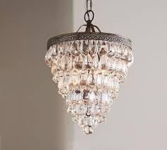 clarissa crystal drop small round chandelier