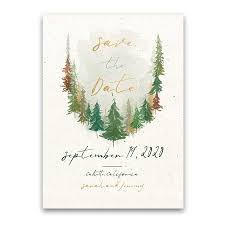Christmas Wedding Save The Date Cards Woodland Forest Wedding Save The Date Cards Woodsy