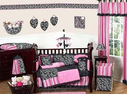 black crib bedding sets pink and black girls baby bedding 9 crib set solid black crib