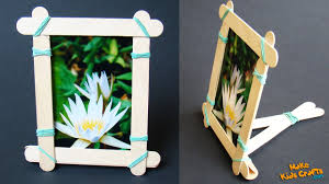 how to make a popsicle stick picture frame make kids crafts