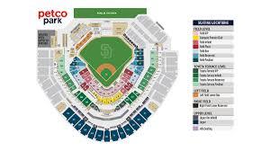 Petco Park Seating Chart Field Box Membership Plans San Diego Padres