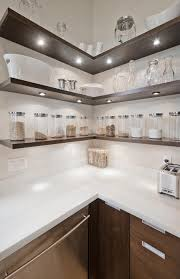 mini recessed led accent light 1 watt cool white shown installed on kitchen shelves in cool white