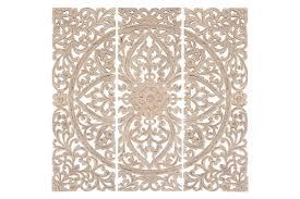 One Allium Way 3 Piece Wood Plaque Wall Décor Set & Reviews | Wayfair