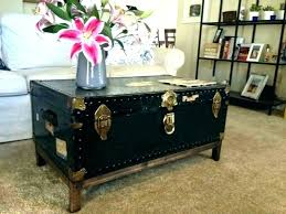 steamer trunk coffee table uk with drawers pottery barn