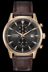 citizen watches men s leather watch front cropped image