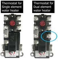 how to wire water heater thermostat upper thermostats single element thermostat dual element thermostat