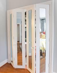 interior bifold doors glass panel home interiors