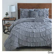 topic to grey ruffle comforter gray quilt down duvet bedding sets bedroom queen size light