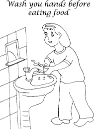 hand washing coloring pages cdc