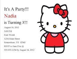 Hello Kitty Party Invitation Hello Kitty Birthday Invitation 6 From Southern Desktop Publishing