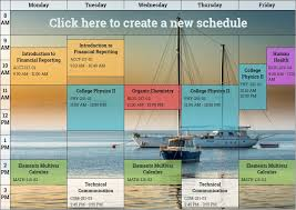 schedule creater free online schedule maker plan weekly activities