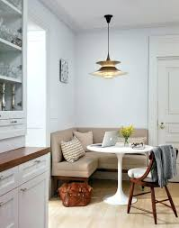 round breakfast nook table one tiny corner nook built right next to the door with only