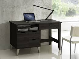 office study desk. Amazon.com: Baxton Studio McKenzie Modern Contemporary Wood 3-Drawer Home Office Study Desk With Two Open Shelves \u0026 Door, I