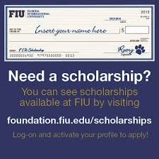 scholarship information one stop enrollment services fiu fiu scholarship options