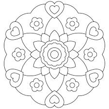 Small Picture Easy Mandala Coloring Pages Corresponsablesco