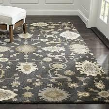 crate and barrel juno gray persian oriental style handmade woollen rugs carpet