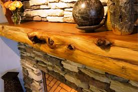 image of fireplace mantels rustic wood