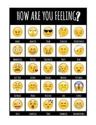 Feelings Chart Emoji Emoji Feelings Chart Feelings Chart Social Emotional