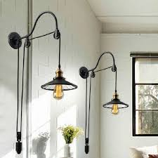 cheap sconce lighting. discount vintage pulleys black retro adjustable pulley length iron glass reading wall lamps led lights sconce for bathroom bedroom office bar cheap lighting s