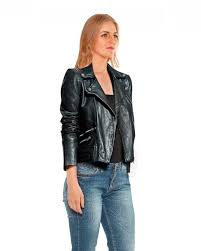 asymmetrical zip leather jacket for women