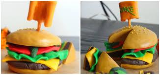 Burger Cake Design Burger Cake Cake Design Modelling Clay
