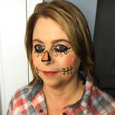 cute scarecrow makeup photo 1