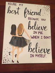 canvas for best friend e painting diy