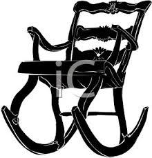 rocking chair silhouette. Exellent Silhouette Picture Of A Silhouette Wooden Rocking Chair In Vector Clip Art  Illustration  Royalty Free Clipart Inside