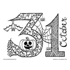 Small Picture October Halloween Coloring Pages bootsforcheapercom